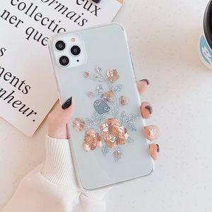 *NEW iPhone 11/Pro/Max/XR/7/8/Plus Golden Rose